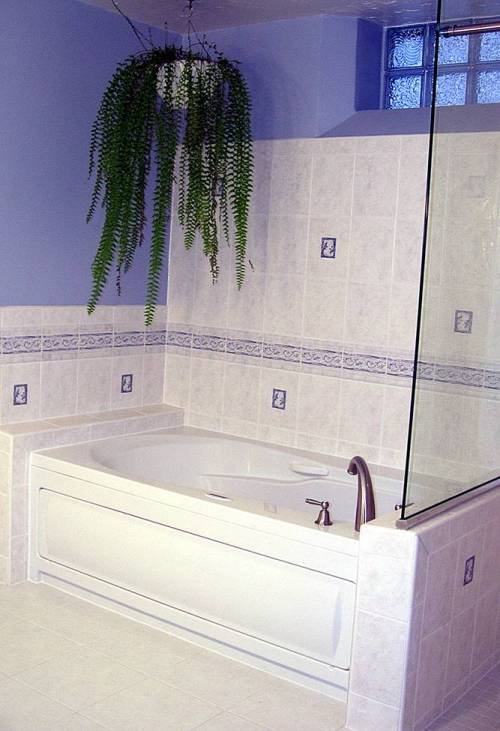 -Custom tub and tile surround-
