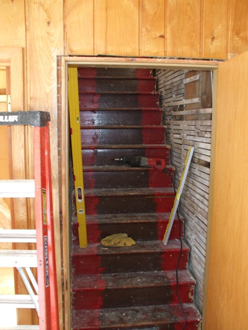 Existing stair remodel