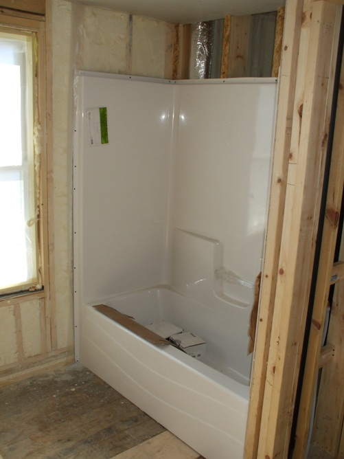 Insulation and Tub in Place