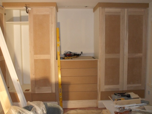 Master Closets awaiting paint