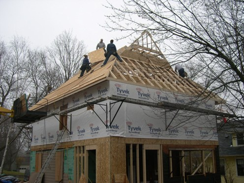Gable Trusses Installed