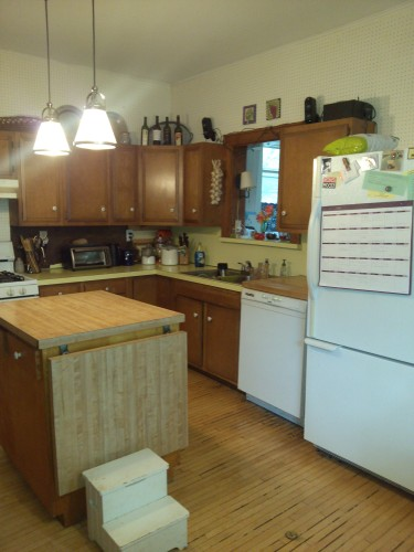 The circa 1960 kitchen.