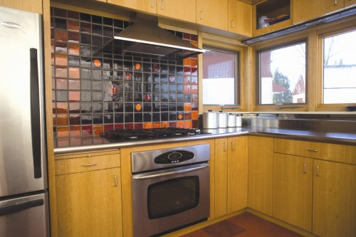 """Union Street kitchen with """"Cosmic Spots"""" tile"""