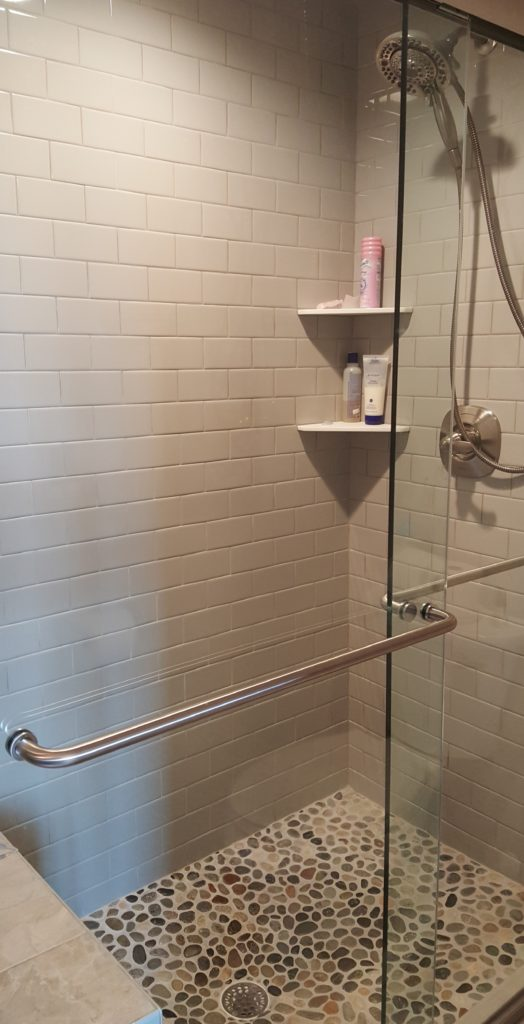 Farmhouse master shower