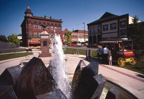 Downtown Northfield's Bridge Square, (Photo courtesy of Northfield News website)