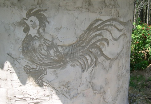 Artistic play in the plaster