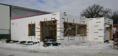 ICF walls for the Auto Salvage Office